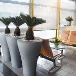 grand pot pour aménagement végétal en entreprise