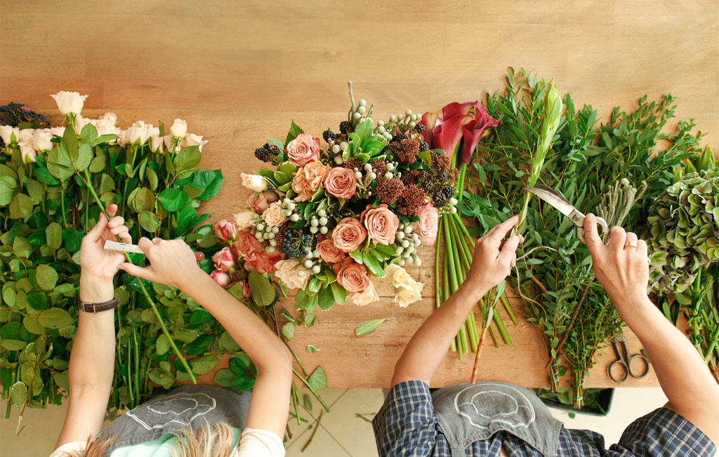 travail des fleurs