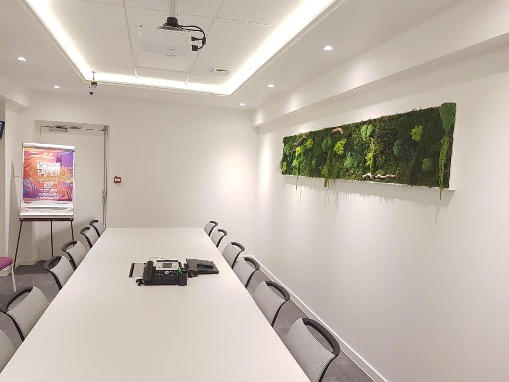 mur vegetale salle de reunion