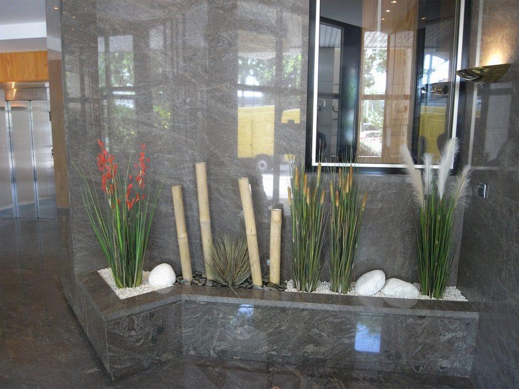 paysagiste intérieur pour un hall d'immeuble