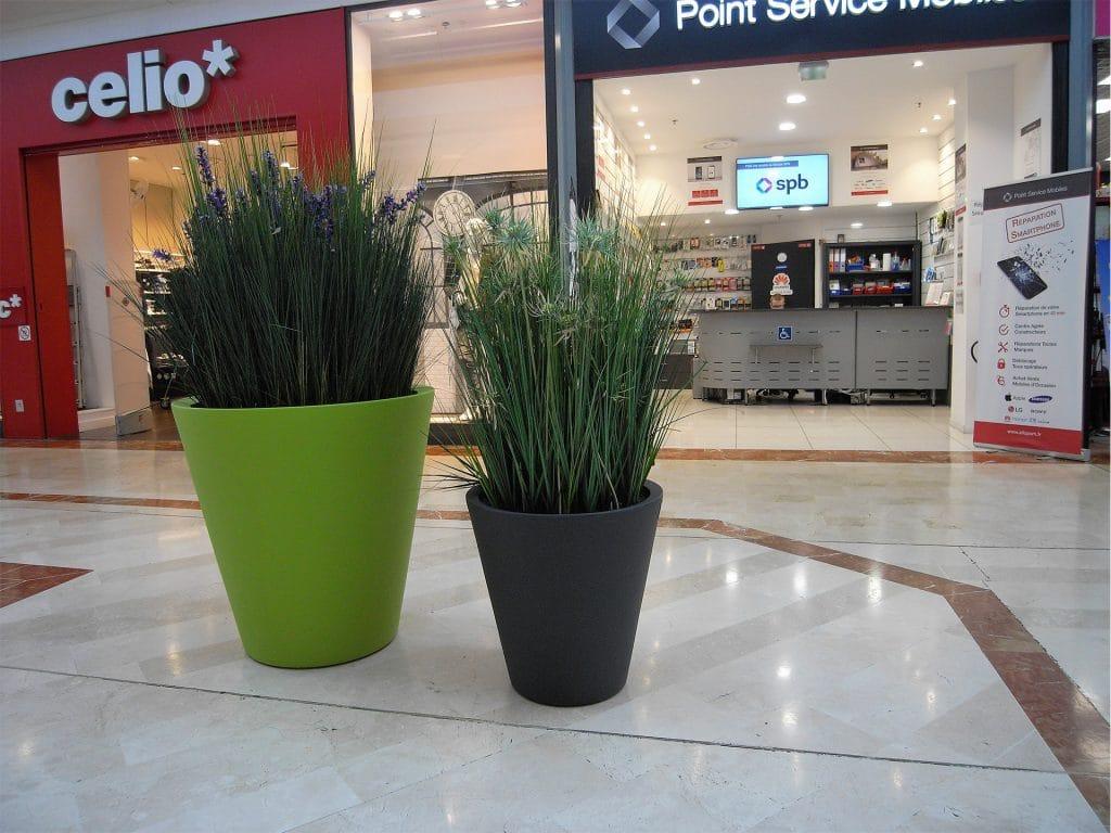 aménagement végétal pour un centre commercial
