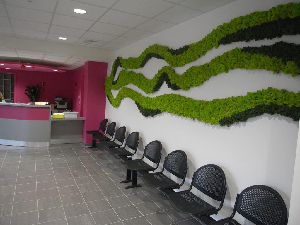 mur végétal avec mousse sans entretien