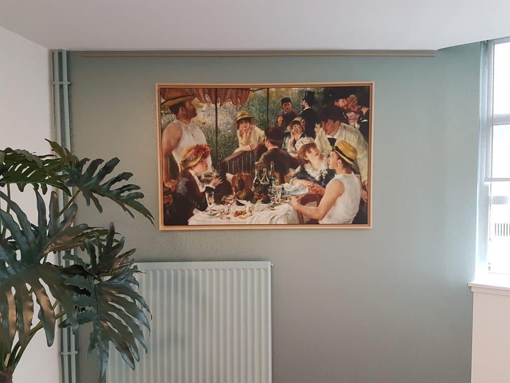tableau mural dans une maison de retraite