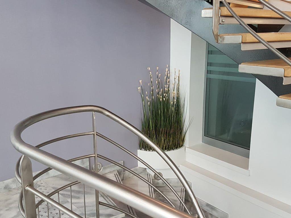 décor végétal intérieur credit mutuel