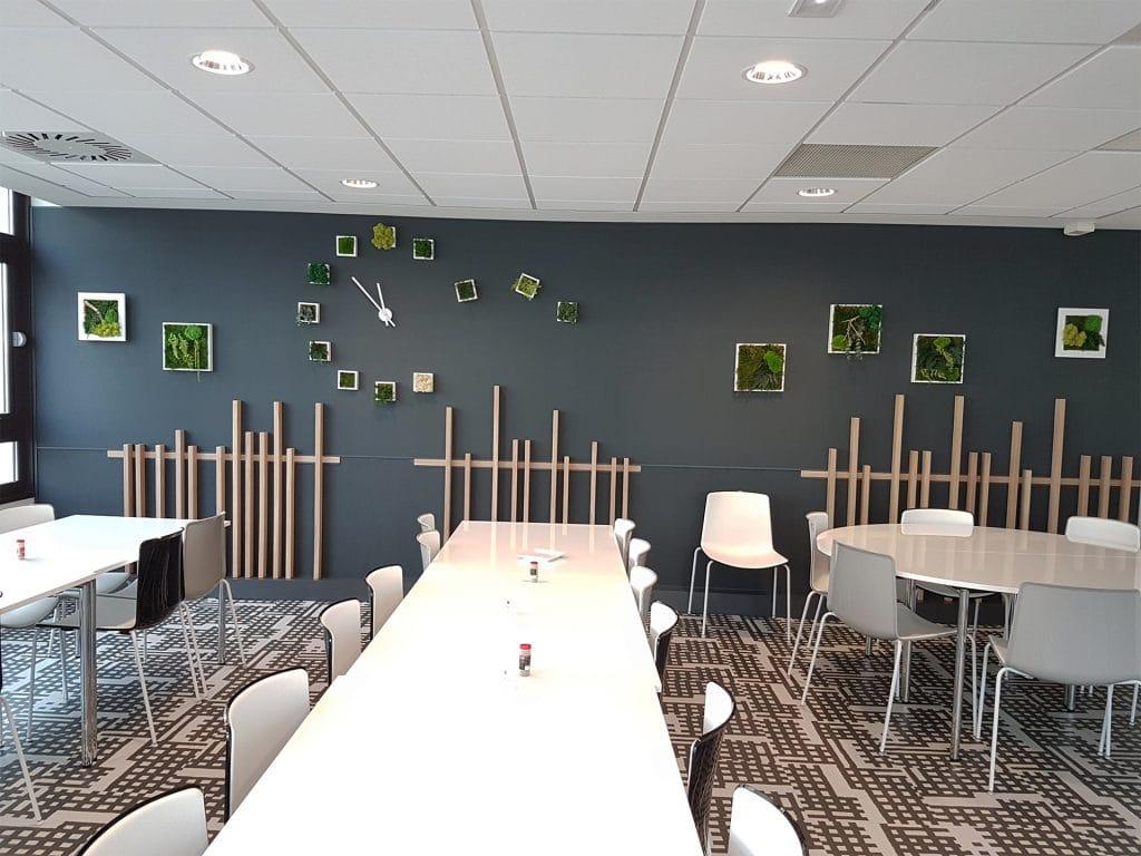 decor végétal cafétériat entreprise