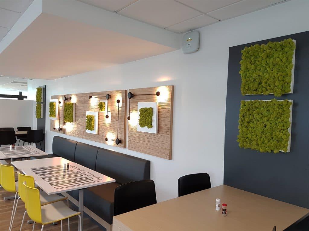 décor végétal refectoire cafétariat