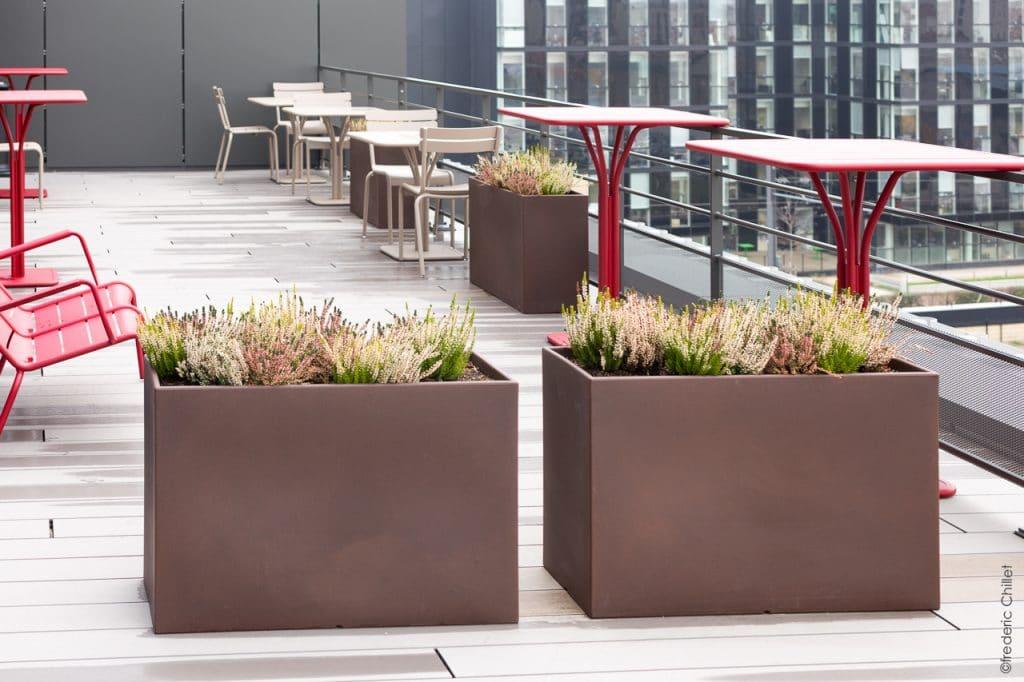 aménagement terrasse en entreprise
