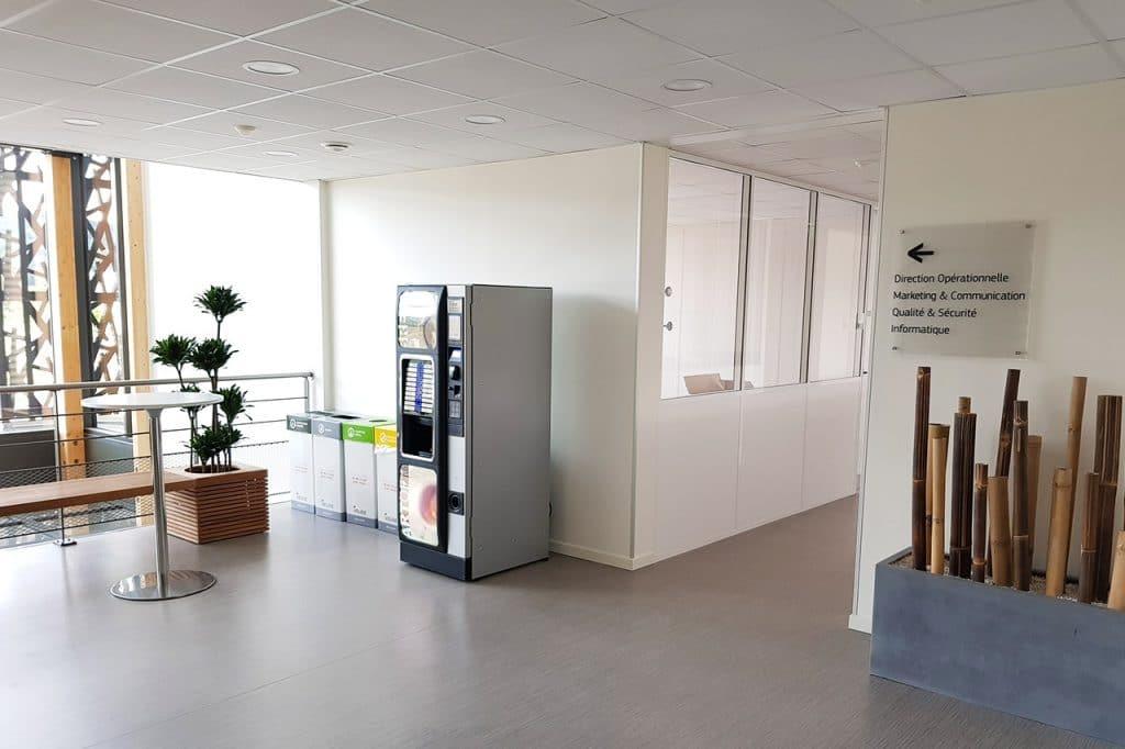 aménagement végétal caféteria d'entreprise