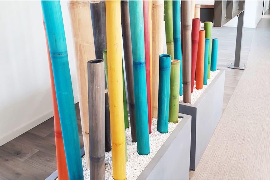 aménagement végétale d'entreprise avec bambou