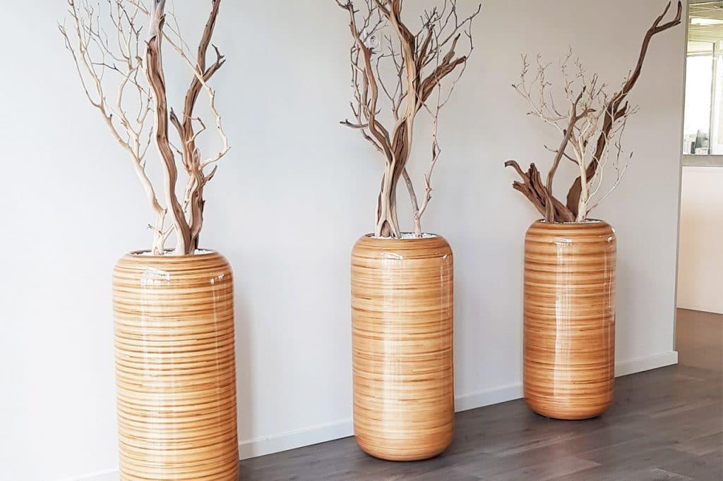 aménagement végétal pot design en bois