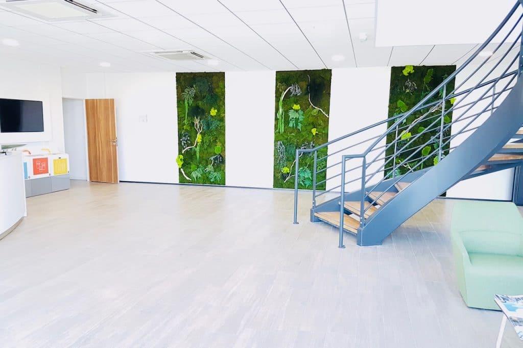 touche verdure hall accueil entreprise