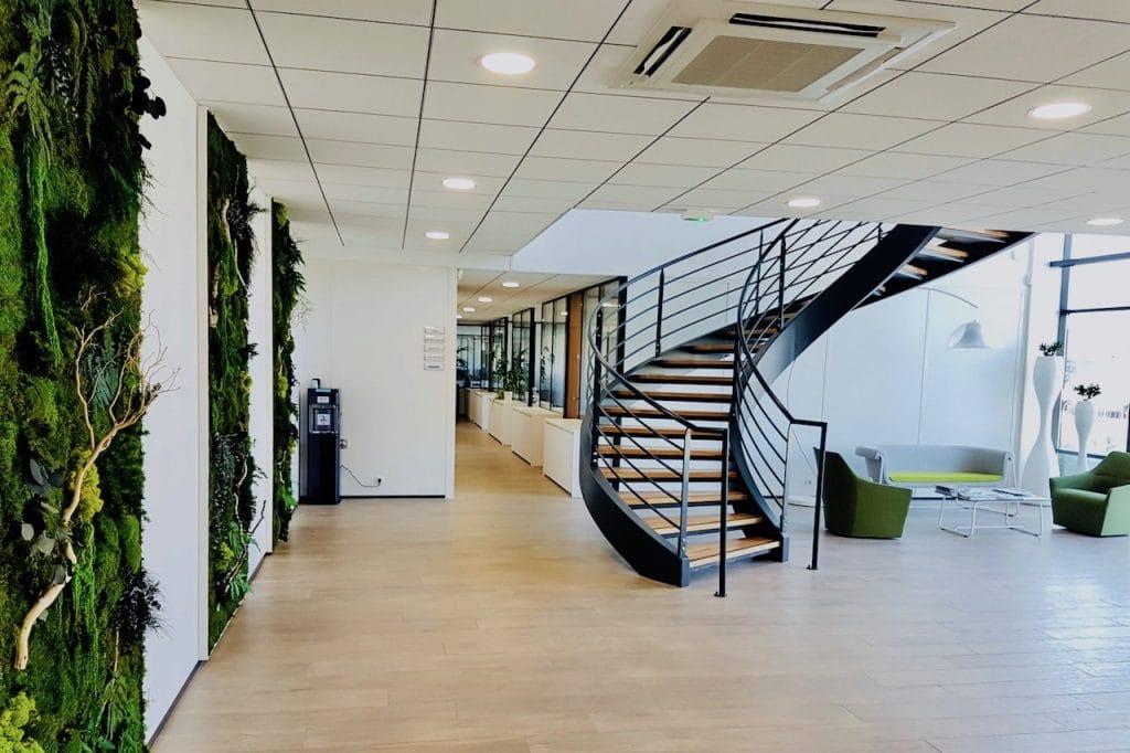 touche verdure espace accueil entreprise