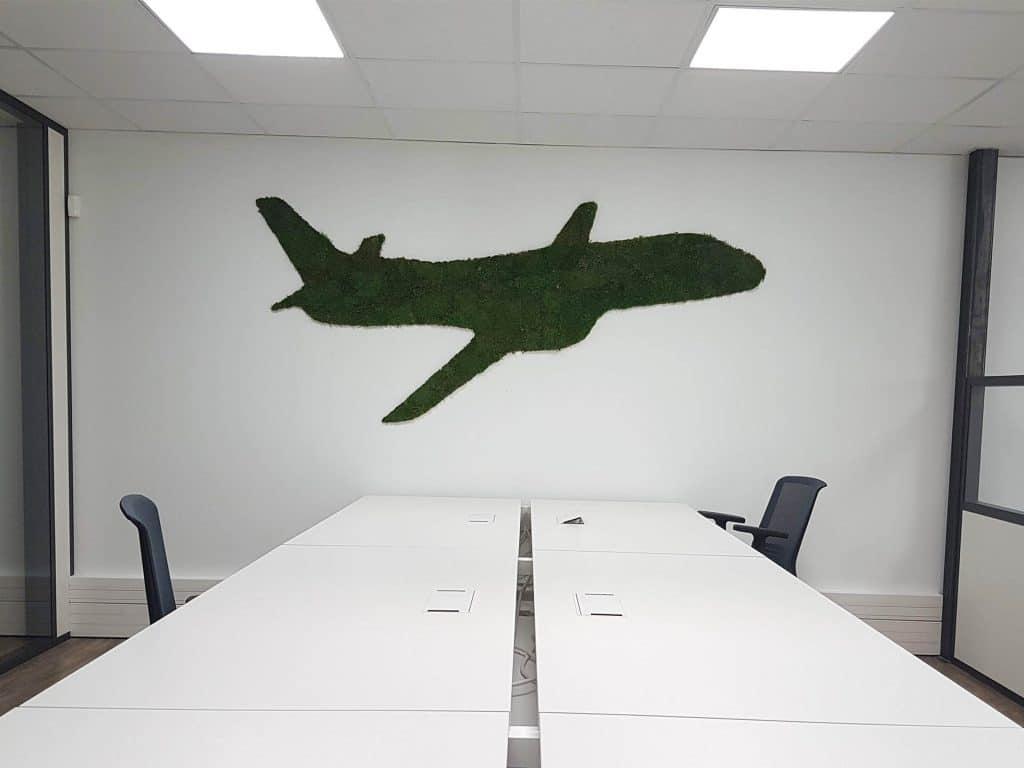 mur vegetal salle de réunion