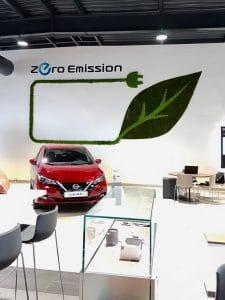 aménagement végétal intérieur concession automobile